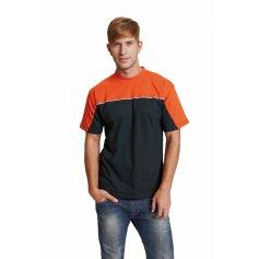 EMERTON tričko čierno-oranžové