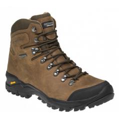 Členková trekingová obuv TERENNO HIGH celokožená, hnedá