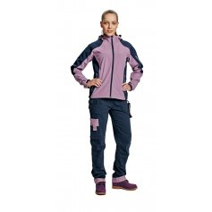 Dámska softshellová bunda YOWIE, fialovo-modrá