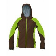 Dámska softshellová bunda YOWIE, hnedo- zelená