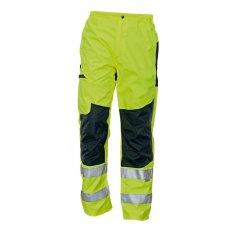 Nezateplené nohavice TICINO s reflexnými prvkami, žlté