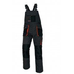 EMERTON nohavice s náprsenkou čierne