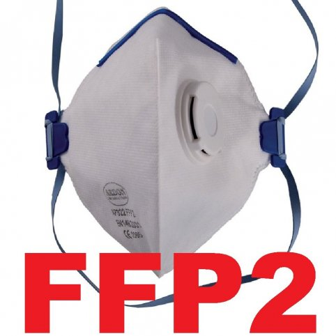 Respirátor AP 322, tvarovaný, výdychový ventilček