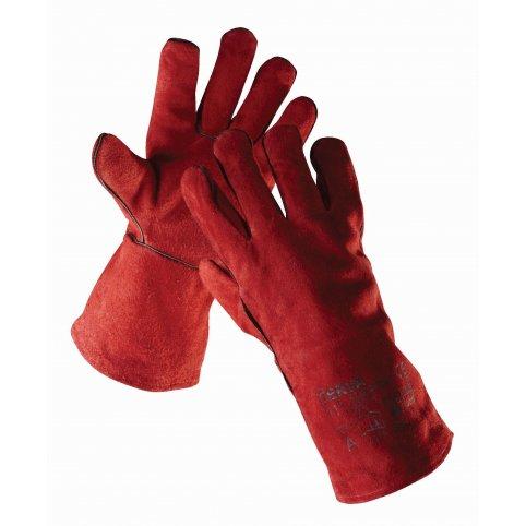 Zváračské rukavice SANDPIPER RED, červené