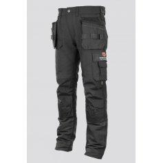 Pánske strečové monterkové nohavice EREBOS Promacher, čierne