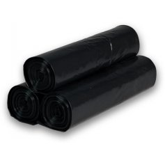 Igelitové vrecia 70x110 25ks čierne