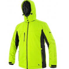 Pánska softshellová zimná bunda VEGAS,žlto-čierna