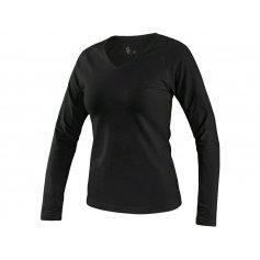 Dámske tričko MARY s dlhým rukávom, čierna