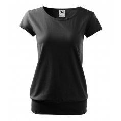 Dámske tričko s krátkym rukávom CITY, čierne