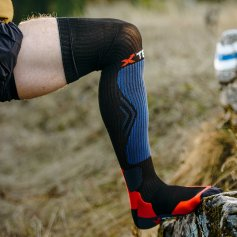 Funkčné kompresné ponožky Off-Road, -10/+25°C, čierne, XTECH