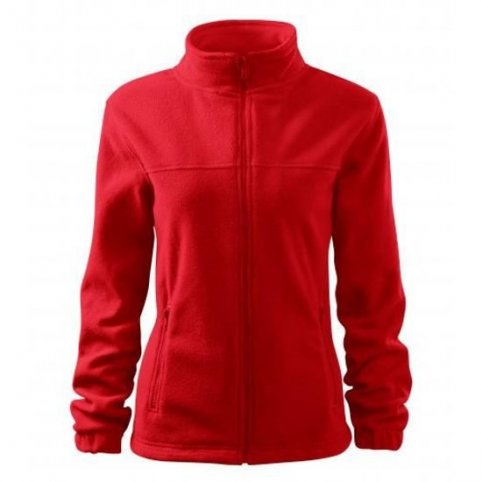 Dámska fleece mikina JACKET 504, červená