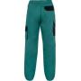 Dámske nohavice CXS LUXY ELENA, zeleno-čierne