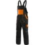 Nohavice na traky CXS LUXY ROBIN, čierno-oranžové