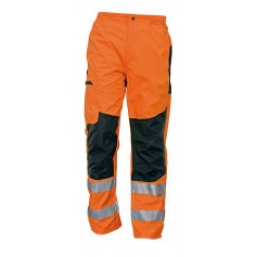 Nezateplené nohavice TICINO s reflexnými prvkami, oranžové