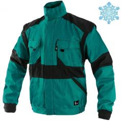 Pánska zimná bunda CXS LUXY HUGO, zeleno-čierna