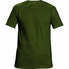 Tričko TEESTA s krátkym rukávom, fľaškovo zelené