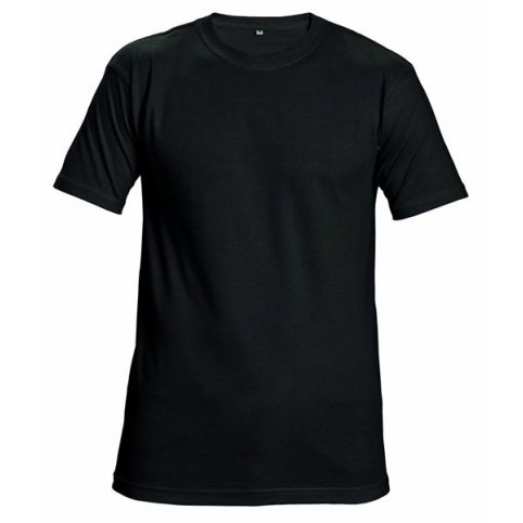 Tričko TEESTA s krátkym rukávom, čierne