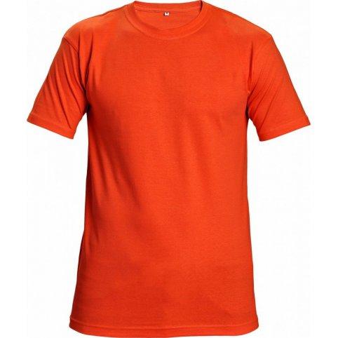 Tričko TEESTA s krátkym rukávom, oranžové