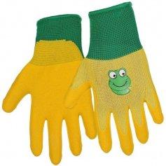 Detské rukavice DRAGO, žlto-zelené