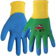 Detské rukavice DRAGO, zeleno-modré