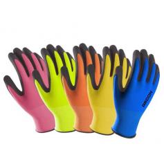 Polomáčané rukavice PETRAX s blistrom (POZOR! Každá veľkosť je inej farby! info v popise)