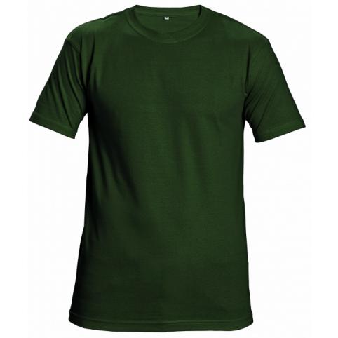 Tričko s krátkym rukávom GARAI, fľaškovo zelené