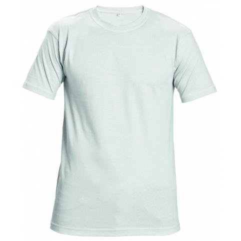 Tričko s krátkym rukávom GARAI, biele