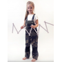 Detské nohavice na traky PINOCCHIO, maskáčové