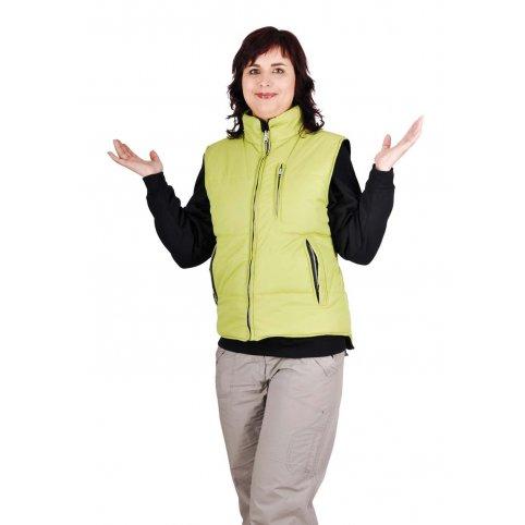 Dámska obojstraná vesta ROSEVILLE LADY zelená- čierna
