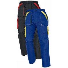 Montérkové nohavice do pása MAX, čierno-červené
