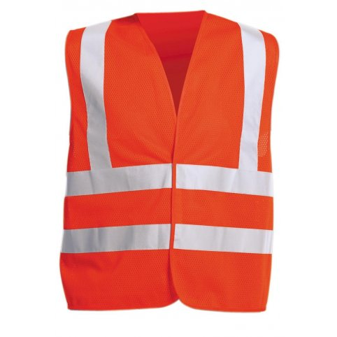 Reflexná výstražná vesta QUOLL, oranžová