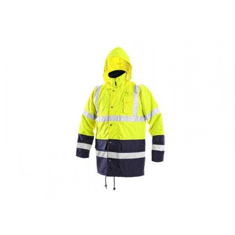Pánska reflexná bunda OXFORD. žlto-modrá