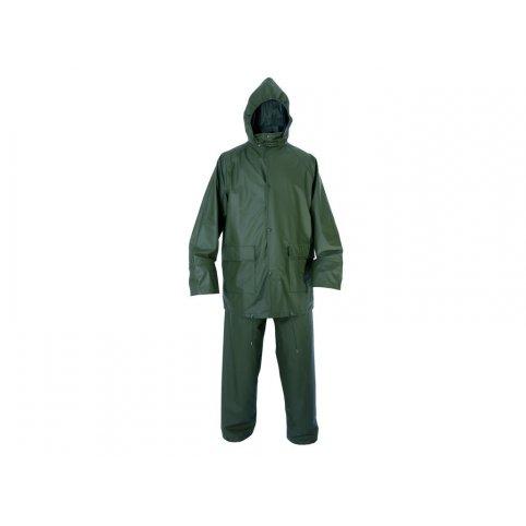 Vodeodolný oblek PU, zelený