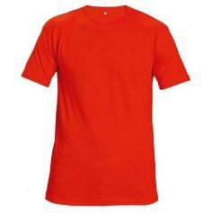 Tričko TEESTA FLUORESCENT s krátkym rukávom, červené