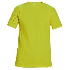 Tričko TEESTA FLUORESCENT s krátkym rukávom, žlté