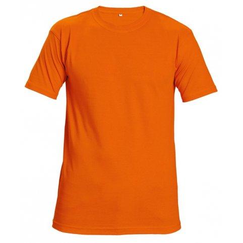 Tričko TEESTA FLUORESCENT s krátkym rukávom, oranžové