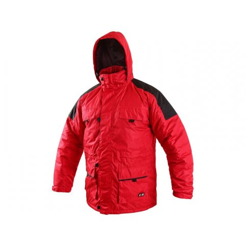 Pánska zimná bunda FREMONT, červeno-čierna