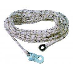 Bezpečnostné lano AC 100 s karabínou, 20 m