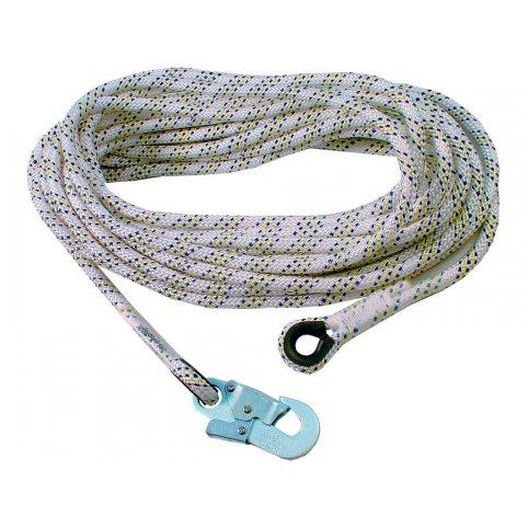 Bezpečnostné lano AC 100 s karabínou, 50 m