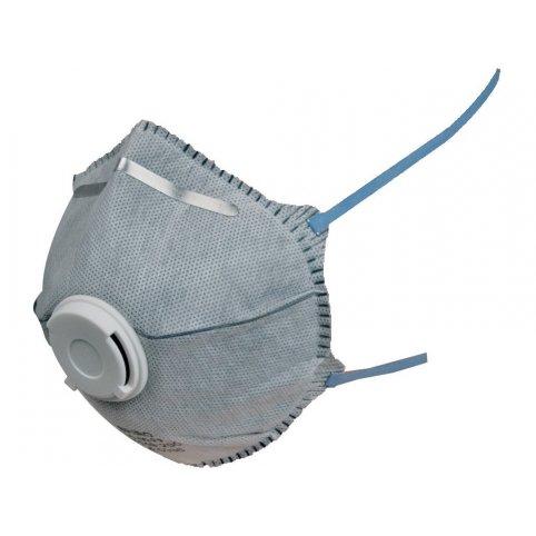 Respirátor SPIRO P2, tvarovaný, výdychový ventilček, predfilter s aktívnym uhlím