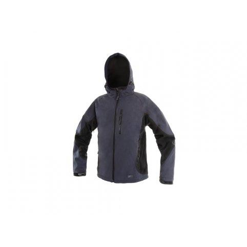 Pánska softshellová bunda PUERTO, modro-čierna
