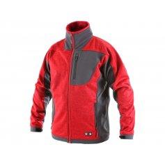 Pánska softshellová bunda FRESNO, červeno-sivá