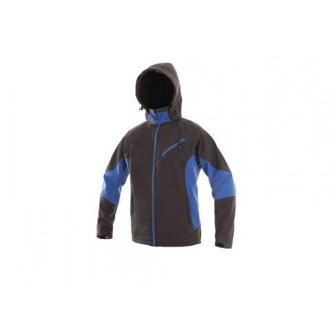 Pánska softshellová bunda SACRAMENTO, sivo-modrá
