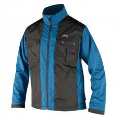Pánska softshellová bunda JETT, čierno-modrá