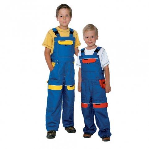 Detské monterkové nohavice COOL TREND KIDS, modro-žlté