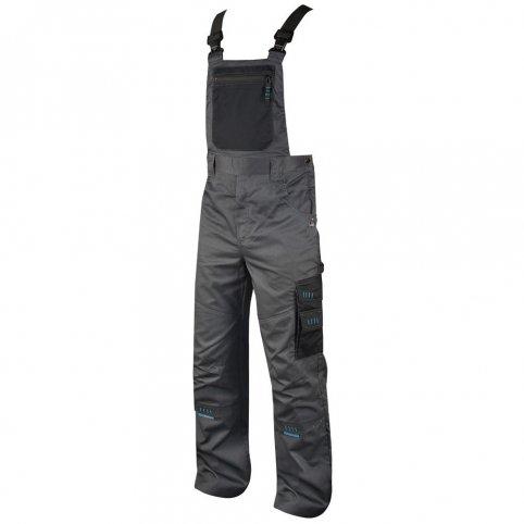 Predĺžené nohavice na traky 4TECH, sivo-čierne