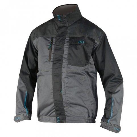 Predĺžená bunda 4TECH, sivo-čierna