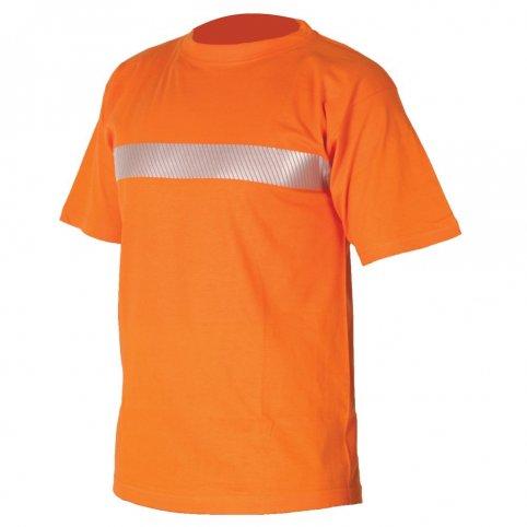Tričko XAVER s reflexným pásikom, oranžové