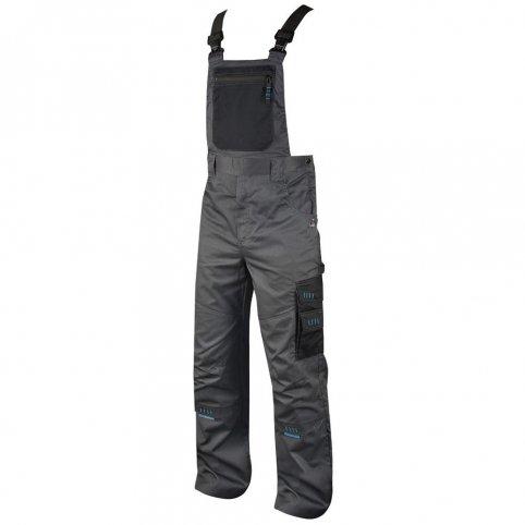 Pánske nohavice na traky 4TECH, sivo-čierne