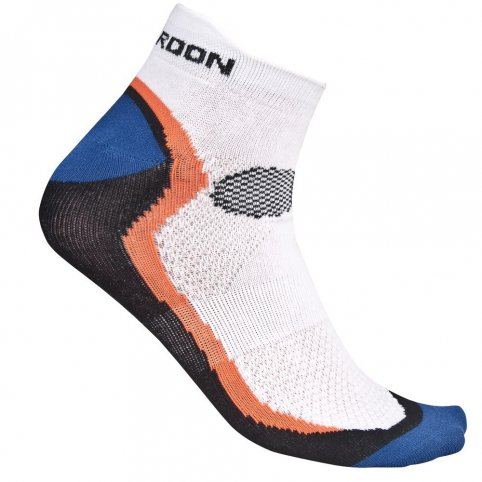 Ponožky SPORT, bielo-čierno-oranžové